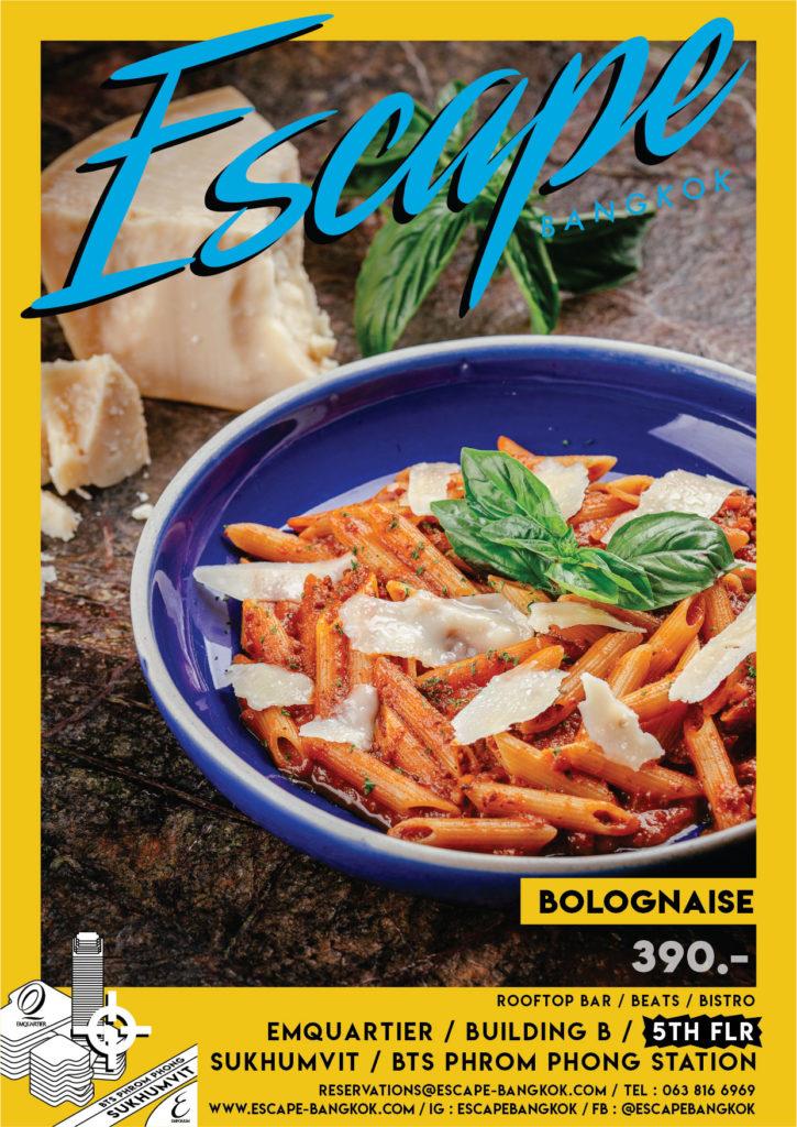 AW Menu Food ESC_No.2 price_Bolognaise