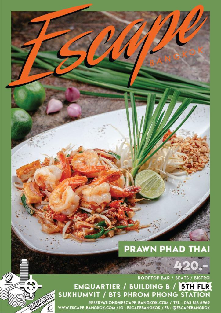 AW Menu Food ESC_No.2 price_prawn phad thai