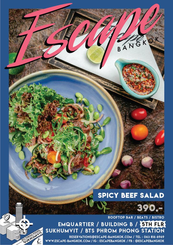 AW Menu Food ESC_No.2 price_spicy Beef Salad